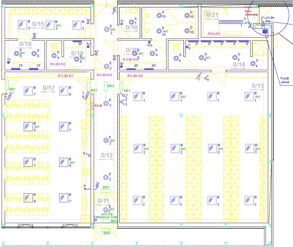 Projekty pomieszczenia
